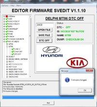 Module DTC OFF DELPHI MT86 Hyundai Kia
