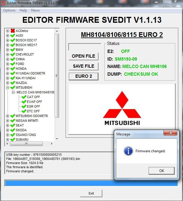 Module CAT OFF MELCO CAN MH8104/8106/8115 MITSUBISHI