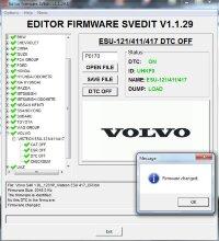 VOLVO VISTEON ESU-121/411/417 DTC OFF