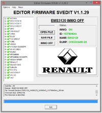 MODULE IMMO OFF EMS3120 RENAULT