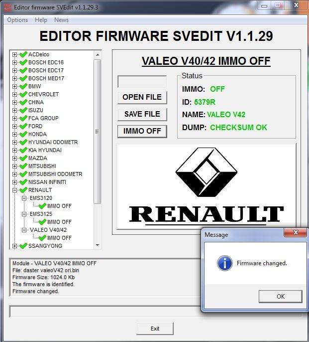 MODULE IMMO OFF VALEO V40/42 RENAULT