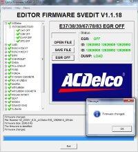 Module EGR OFF ACDELCO E37/38/39/67/78/83