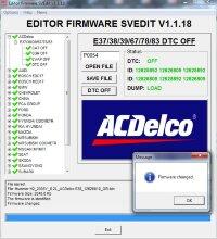 Module DTC OFF ACDELCO E37/38/39/67/78/83
