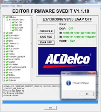 Module EVAP OFF ACDELCO E37/38/39/67/78/83