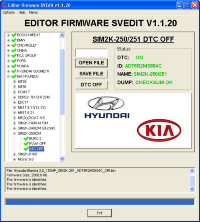 Module DTC OFF SIM2K-250/251 Hyundai Kia