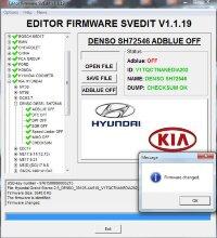 Module ADBLUE OFF DENSO TDI SH72546 Hyundai Kia