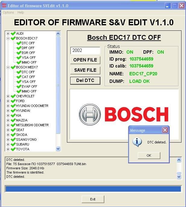 Module BOSCH EDC17