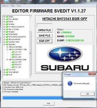 Module EGR OFF HITACHI SH72543 2 MB SUBARU