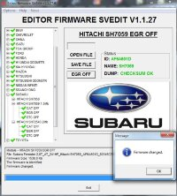 Module EGR OFF HITACHI SH7059 1.5 MB SUBARU